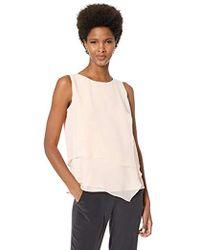 Calvin Klein - Sleeveless Top With Asymmetrical Hem - Lyst