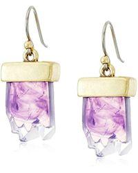 Lucky Brand - S Druzy Drop Earrings - Lyst