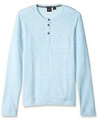 eebb40d3 Lyst - BOSS Molino Regular Fit Long Sleeve Tee in Blue for Men