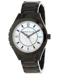 Kenneth Jay Lane - Kjlane-2223 Mother-of-pearl Dial Black Ion-plated Stainless Steel Watch - Lyst