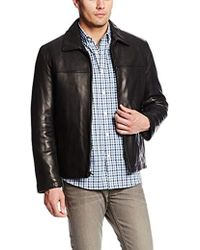 Tommy Hilfiger - Open Bottom Classic Leather Jacket - Lyst