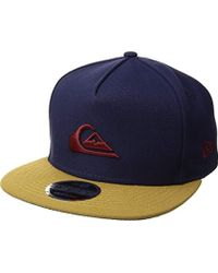 f1a7c6310e5802 ... buy quiksilver stuckles snap trucker hat lyst 5c988 63ac8