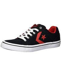 Lyst - Vans Sk8-hi Reissue Twill And Gingham Cornstalk   Black Ankle ... 8cd9410d6