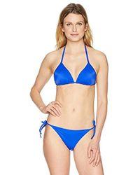 Emporio Armani - Ea7 Sea World Core Triangle Bikini Top And Bottom Set - Lyst