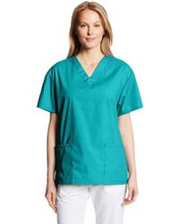 57d7f163d8f Dickies Eds Signature Scrubs Jr. Fit V-neck Top in White - Save 20% - Lyst