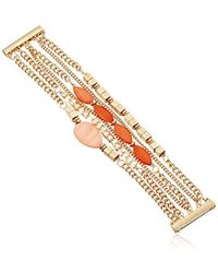 Kenneth Cole - Coral Canyon Mixed Shell And Bead Multi-row Bracelet - Lyst
