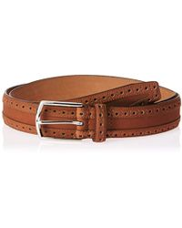 802f3a080c Cole Haan - 35mm Nubuck Leather Belt With Perforated Detail - Lyst