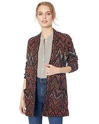 6e9de4bbabc3b Lucky Brand - Long Ikat Open Front Cardigan Sweater - Lyst