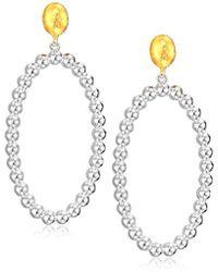 Gurhan - Lentil Collection Sterling Silver Open Oval Drop Post Earrings, One Size - Lyst