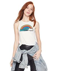O'neill Sportswear - Prismatic Graphic Screen Print Tank Top, Cream, L - Lyst