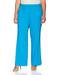 f466784bd84 Lyst - Calvin Klein Plus Size Classic Straight Leg Pant in Blue