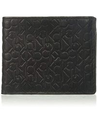 0baf9b85d3 Lyst - Calvin Klein Jeans Coblane Passcase Coin Wallet in Black for Men