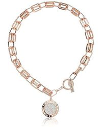 Guess - S Logo Pendant On Link Toggle Close Necklace - Lyst