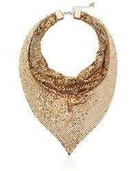 Guess - Mesh Scarf Necklace, Gold, One Size - Lyst