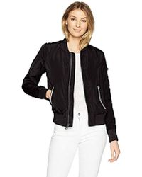 Levi's - Poly Bomber Jacket With Contrast Zipper Pockets - Lyst