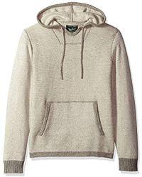 Woolrich - Twill Baja Hooded Merino Sweater - Lyst
