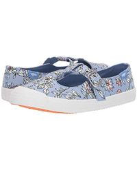 Rocket Dog Corin Faye Cotton Mary Jane Flat - Blue