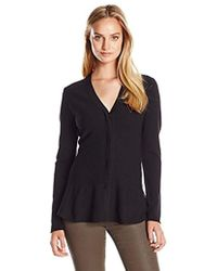 Ellen Tracy - Snap Closure Cardigan - Lyst