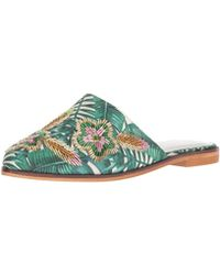 3825b35dd9b Kenneth Cole Reaction - Speed Slip On Flat Mule With Floral Embroidery -  Lyst
