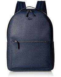Lacoste - Chantaco Leather Backpack With Tonal Croc - Lyst 63fe878c99a32
