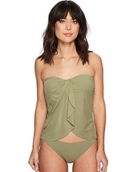 Vince Camuto - Draped Bandini Top Swimsuit With Removable Straps - Lyst