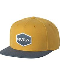 b911f5a8308 Lyst - Rvca Commonwealth Ii Snap Back in White for Men
