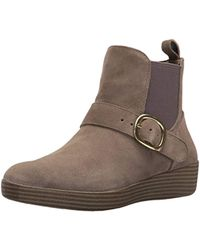 Fitflop - Superbuckle Suede Chelsea Fashion Boot - Lyst