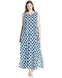 38d47847354 Rafaella - Plus-size Tie-dye Geometry Print Maxi Dress - Lyst