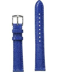 Michele - S 16mm Cobalt Lizard Strap Blue - Lyst