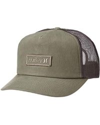 fcd14c631f3 Lyst - Hurley Waxed Olive Mens Trucker Hat in Green for Men