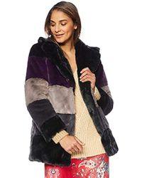 Rachel Roy - Faux Fur Coat, - Lyst