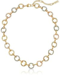 Kenneth Cole - Kenneth Cole New Trinity Rings Tri-tone Link Collar Necklace - Lyst