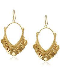 Satya Jewelry - Gold Lotus Petals Chandelier Drop Earrings - Lyst