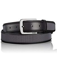 7a38468db0afd Lyst - Tumi Ballistic Nylon   Leather Braided Belt in Black for Men