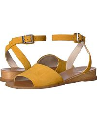 Kenneth Cole Reaction - Jolly Low Wedge Sandal With Ankle Strap - Lyst