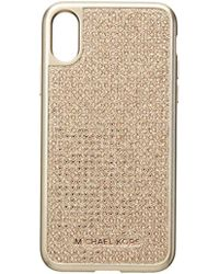 Michael Kors - Rose Gold Pave Phone Cover X - Lyst