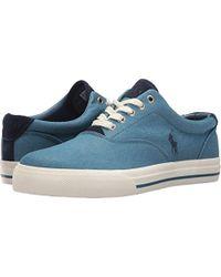 Polo Ralph Lauren - Vaughn-colored Denim Sneaker - Lyst