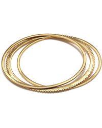 Satya Jewelry - S Gold Bangle Bracelet Set, One Size - Lyst