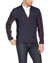 Armani Exchange -   Csul Jcket With Lether Collr Nd Red Zipper - Lyst