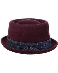 15112e7ac93fa Robert Graham - Headwear Edgecomb Porkpie Hat - Lyst