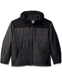 Champion - Big Size Tech Herringbone Quilted Puffer With Hood - Lyst