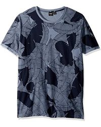 BOSS - Boss Orange Allover Banana Leaf Printed Cotton Graphic Tee - Lyst
