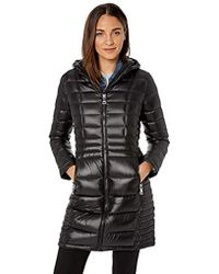 Calvin Klein - Long Packable Down Jacket With Attached Hood - Lyst