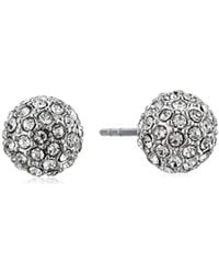 Rebecca Minkoff - Crystal Ball Stud Ball Earrings - Lyst