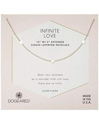 Dogeared - Silver Infinite Love Chain Necklace - Lyst