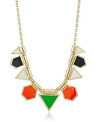 """French Connection - Polygon Frontal Fine Chain Necklace, 16"""" + 3"""" Extender - Lyst"""