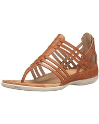 7f5c8c67ac7f Ecco - Flash Lattice T-strap Huarache Sandal - Lyst