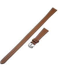 Michele - S 18mm Saddle Calfskin Leather Double Wrap Strap - Lyst