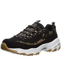 e7005ca4501b Skechers - D'lites-quick Leopard Sneaker - Lyst