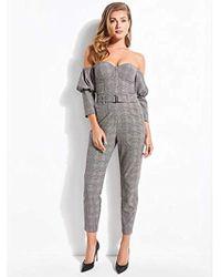 Guess - Long Sleeve Alexa Bustier Jumpsuit - Lyst